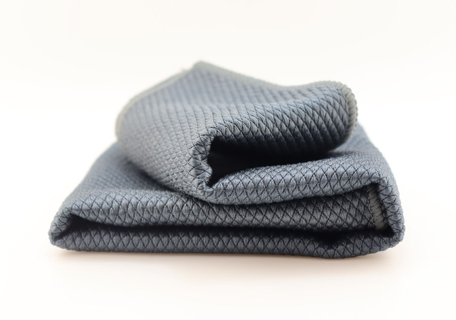 Безворсовое чистящее полотенце для стекол  Dr. Joe Ultra 56Blk, черное, 40cm*40cm