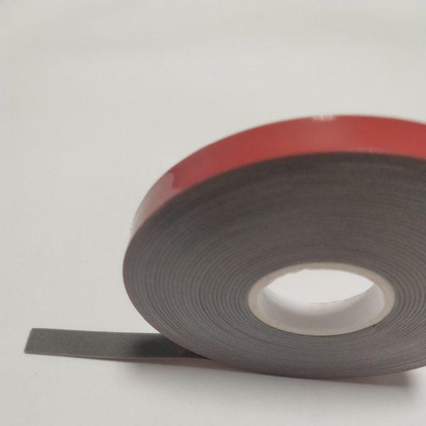 Акриловая лента HEXIS самоклеящаяся, двусторонняя, цвет серый, толщина ленты 1,1 мм, 19мм*33м
