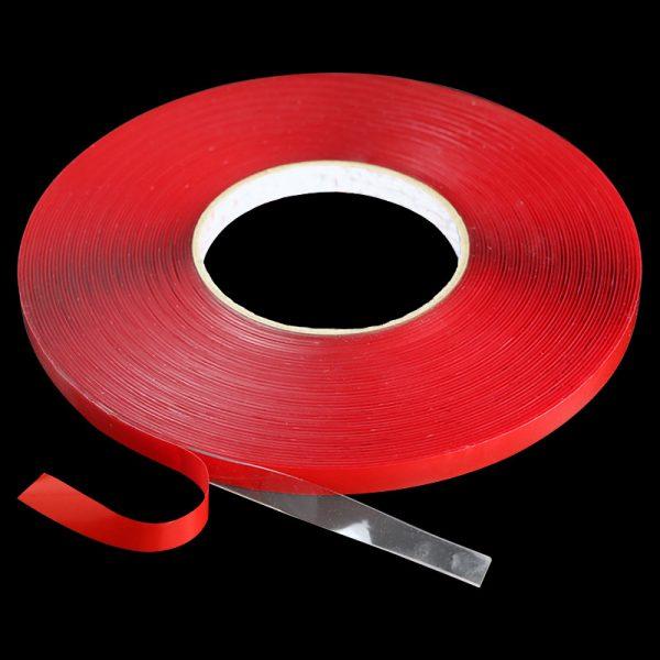 Акриловая лента HEXIS самоклеящаяся, двусторонняя, цвет серый,толщина ленты 1,1 мм, 12мм*33м