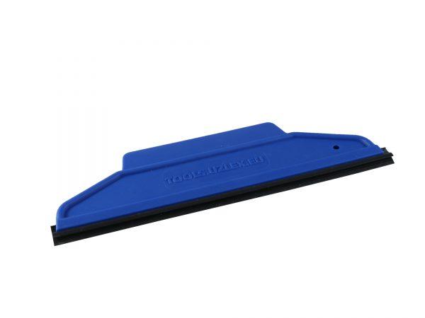 Ракель RUBBER синий, средней жесткости, форма 2 в 1 со съемной ПВХ вставкой 195 х 60 мм