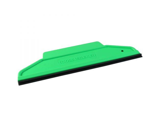 Ракель RUBBER зелёный, мягкий, форма 2 в 1 со съемной пвх вставкой 195 х 60 мм