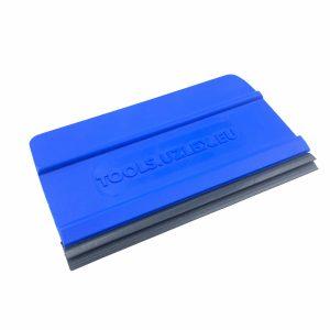 Ракель UNIVERSAL средней жесткости, синий с резиновым лезвием 2в 1 (95х60мм)