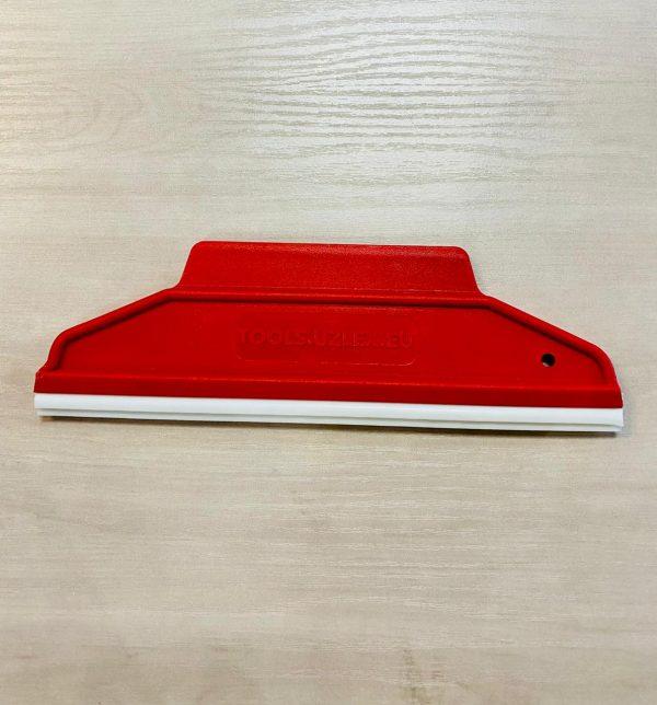 Ракель RUBBER красный средней жесткости, форма 2 в 1 со съемной ПВХ вставкой 195х60мм