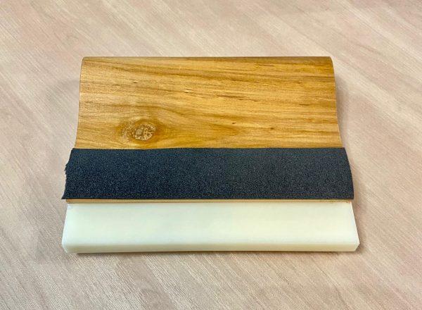 Ракель Wooden squeegee деревянный, с жестким PU лезвием , 140мм