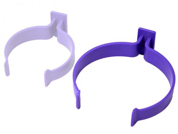 Пластиковый держатель Plastic clip L , фиолетовый  ф 110мм