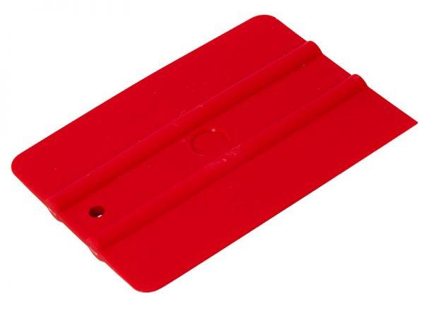 """UZLEX Ракель простой 50М1 WRAP,  красный, средней жесткости 4"""", 100х75"""