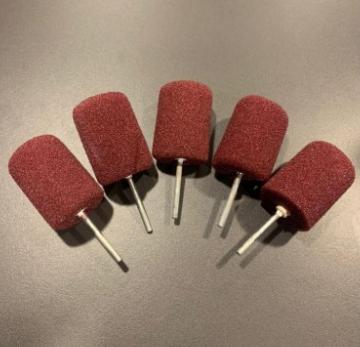 Эллиптическая мини-подушка для полировки деталей бордовая
